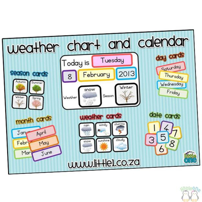 Picture of Electronic Weather Chart & Calendar