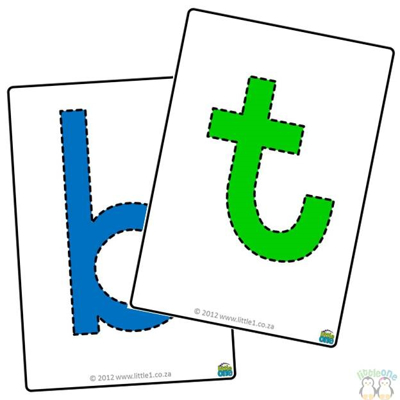 Picture of Playdough Mats - A-Z - Lower case - Bright Colours