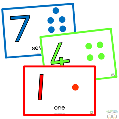 Picture of Pom-Pom Mats - Numbers 1-10 - Bright Colours