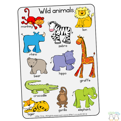 Picture of Theme Wall Chart - Wild Animals