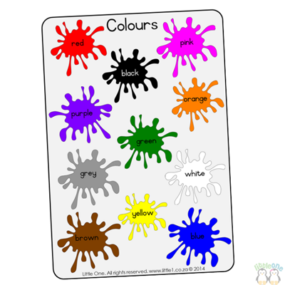 Picture of Theme Wall Chart - Colours