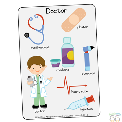 Picture of Theme Wall Chart - Doctor