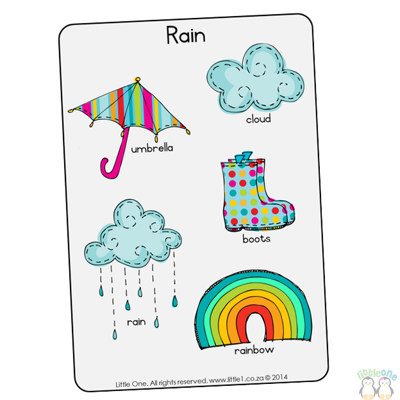 Picture of Theme Wall Chart - Rain