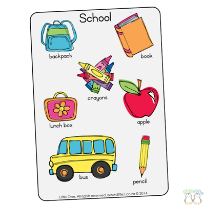 Picture of Theme Wall Chart - School
