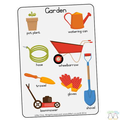 Picture of Theme Wall Chart - Garden