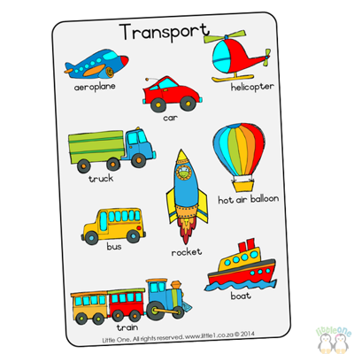 Picture of Theme Wall Chart - Transport