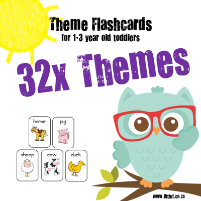 Picture of 160x Theme Flashcards for 1-3 year olds