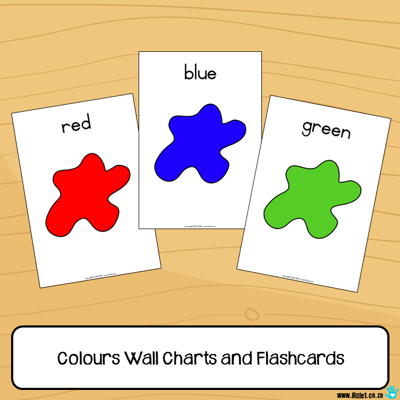 Picture of Flashcards & Wall Charts {Colours}