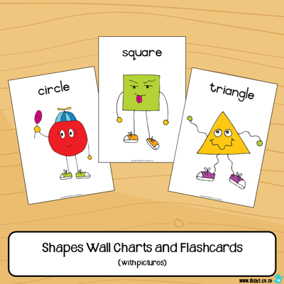 Picture of Flashcards & Wall Charts {Shapes} with pictures