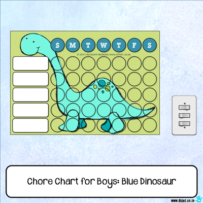 Picture of Chore Chart - Blue Dinosaur