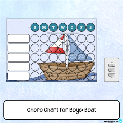 Picture of Chore Chart - Boat