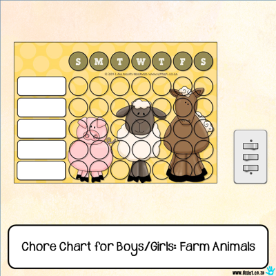 Picture of Chore Chart - Farm Animals