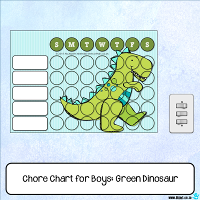 Picture of Chore Chart - Green Dinosaur
