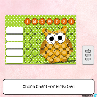 Picture of Chore Chart - Owl
