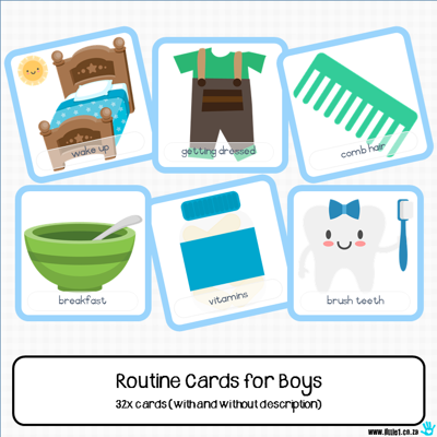 Picture of Routine Cards {Boys}