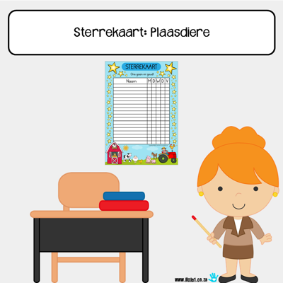 Picture of Star Chart {A3}: Farm Animals