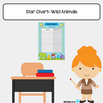 Picture of Star Chart {A3}: Wild Animals