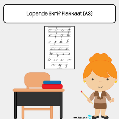 Picture of Lopende Skrif Plakkaat {A3} Kleinletters