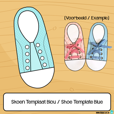 Picture of Skoen Templaat Blou / Shoe Template Blue