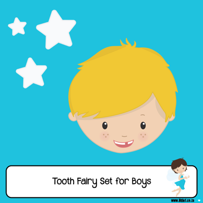 Picture of Tooth Fairy Letter Set for Boys
