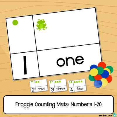 Picture of Froggie Counting Mats - Numbers 1-20