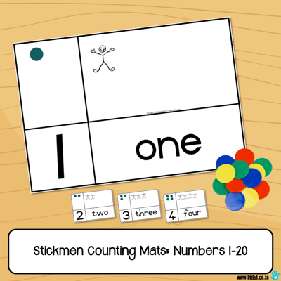 Picture of Stickmen Counting Mats - Numbers 1-20