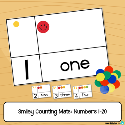 Picture of Smiley Counting Mats - Numbers 1-20