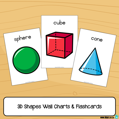Picture of Flashcards & Wall Charts {3D Shapes}