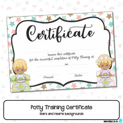 Picture of Potty Training Certificate {Editable Template}