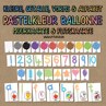 Picture of Flashcards & Wall Charts {Shapes} - Pastel Coloured Balloons