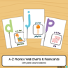 Picture of Flashcards & Wall Charts {Alphabet Phonics} - Pastel Coloured Balloons