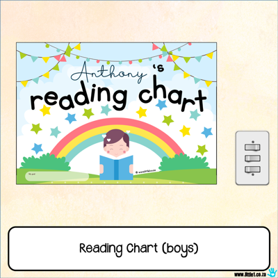 Picture of Reading Chart {boys}