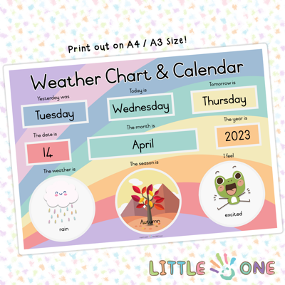 Picture of 🆕 Weather Chart & Calendar
